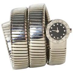 Bvlgari Stainless Steel & Diamond Serpenti Tubogas Watch BB 19 1TS