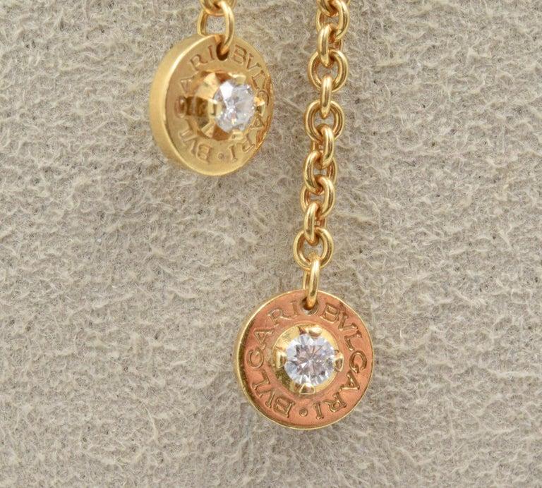 Bvlgari Station Circle Necklace With Diamonds In 18 Karat