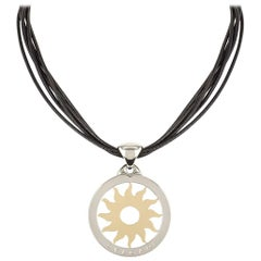 Bvlgari Steel and Yellow Gold Tondo Sun Pendant