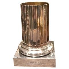 Bvlgari Sterling Silver Column Vase
