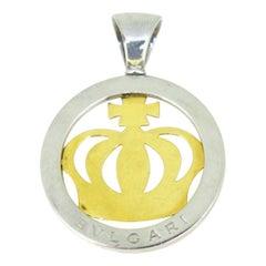Bvlgari Tondo Crown Yellow Gold Steel Pendant