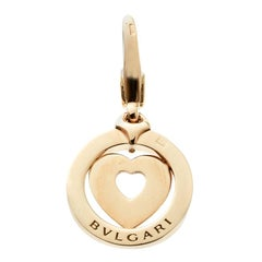 Bvlgari Tondo Heart 18k Yellow Gold Charm