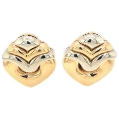 Bvlgari Tri Gold Vintage Earrings