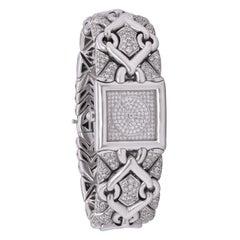 Bvlgari Trika 18K White Gold All Diamond Watch