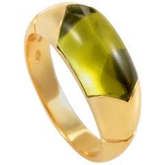Bvlgari Tronchetto 18 Karat Yellow Gold Peridot Ring