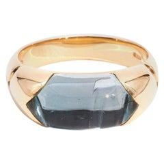 Bvlgari Tronchetto Topaz Ring in 18 Carat Gold with Original Box