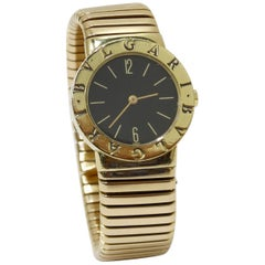 Bvlgari Tubogas 18K Gold Wrist Watch