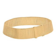 Bvlgari Tubogas 18k Yellow Gold Adjustable Choker Necklace