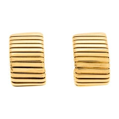 Bvlgari Tubogas 18K Yellow Gold Clip-on Huggie Earring