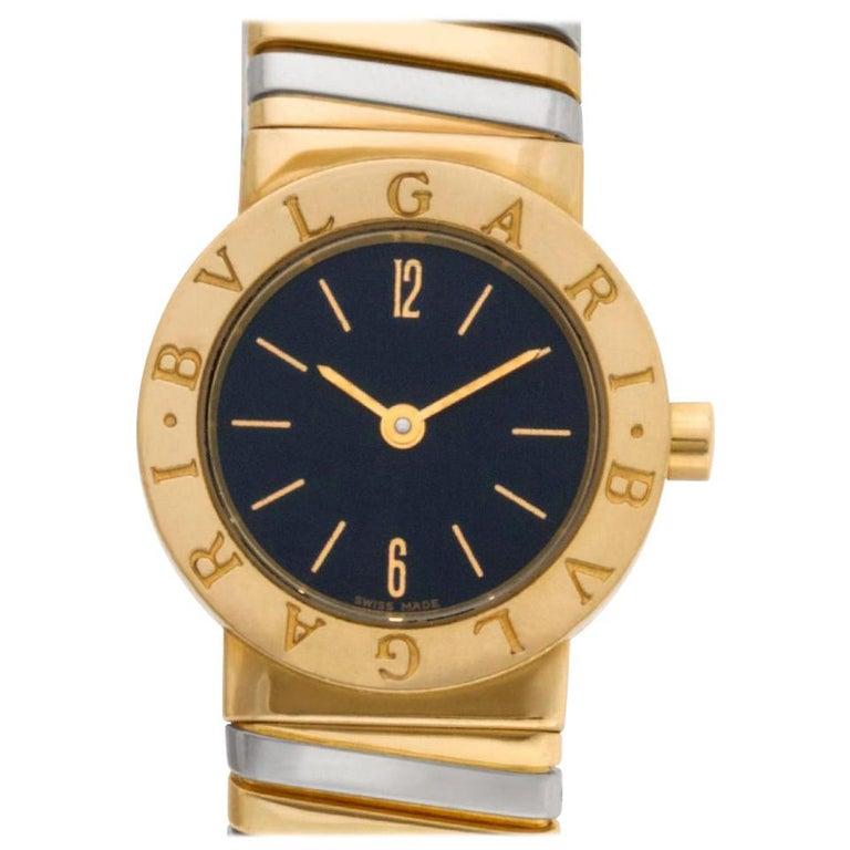 Bvlgari Tubogas BB23T 18 Karat Quartz Watch For Sale