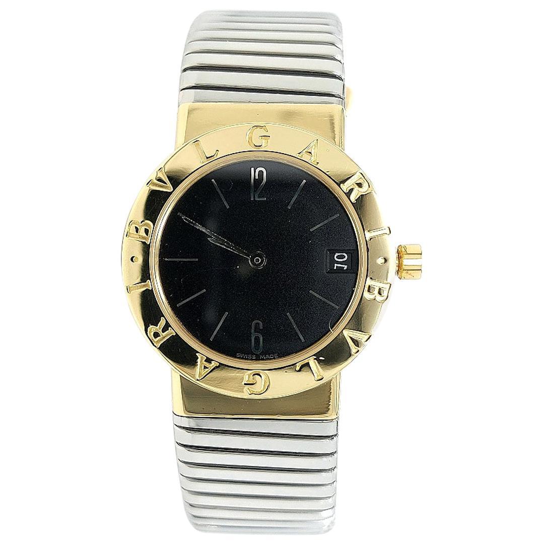 Bvlgari Tubogas Midsize Watch, Black Dial, Quartz, BB30 GSCD