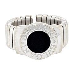 Bvlgari Tubogas Ring with Black Onyx