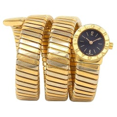 Bvlgari Turbogas Serpenti 18K Bi-Color Yellow Gold Women's Watch Quartz BB191T