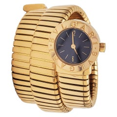 Bvlgari Two-Row 'Serpenti Tubogas' Yellow Gold Watch