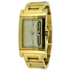 Bvlgari, Watch, Rettangolo, 18 Carat Gold, RT39G, Quartz