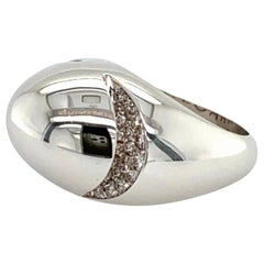 Bvlgari White Gold and Diamond Ring