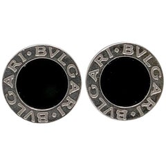 Bvlgari White Gold and Onyx Earrings