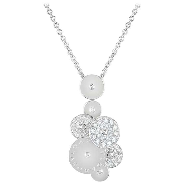 Bvlgari White Gold Diamond Cicladi Pendant For Sale