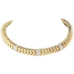 Bvlgari Yellow Gold and Diamond Collar Necklace
