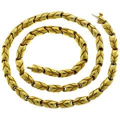 Bvlgari Yellow Gold Chain Necklace Bulgari, 1970s