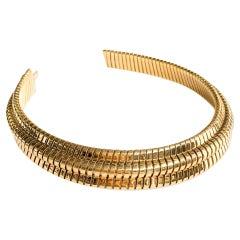 Bvlgari Yellow Gold Heavy Choker Collar Vintage Necklace