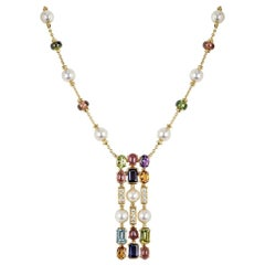 Bvlgari Yellow Gold Multi-Gem Allegra Necklace