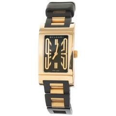 Bvlgari Yellow Gold Rettangolo Ladies Wristwatch