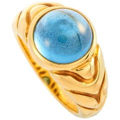Bvugari Doppio Topaz Yellow Gold Ring