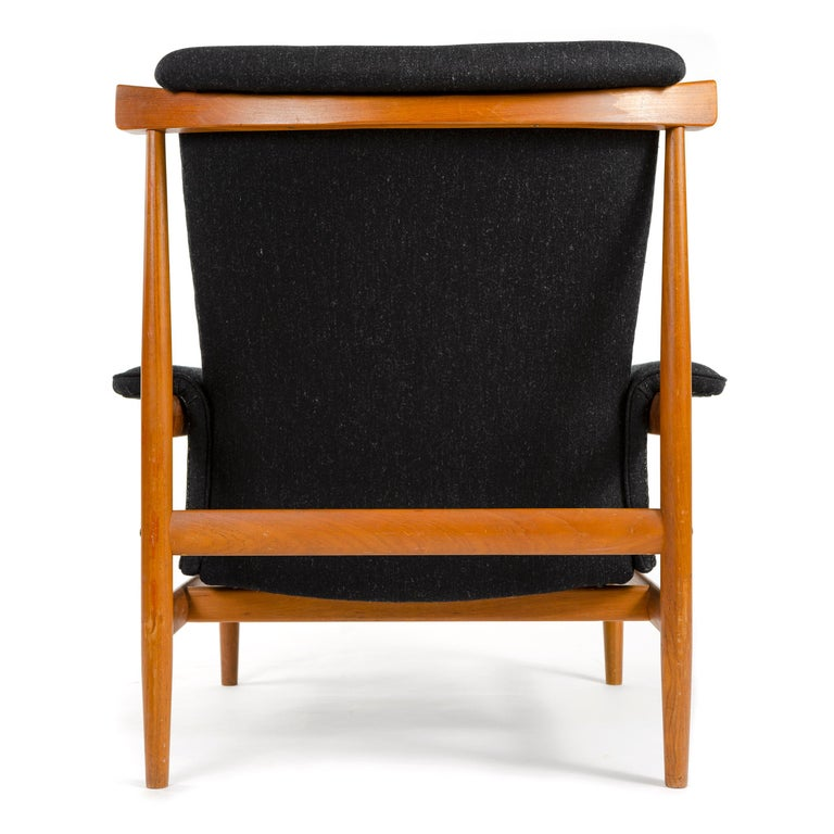 Upholstery 1960s Danish 'Bwana' Teak Lounge Chair and Ottoman by Finn Juhl for France & Son For Sale