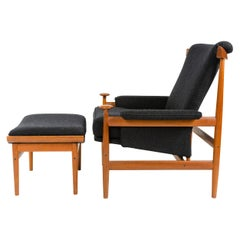'Bwana' Teak Lounge Chair with Wool Savak Upholstery by Finn Juhl