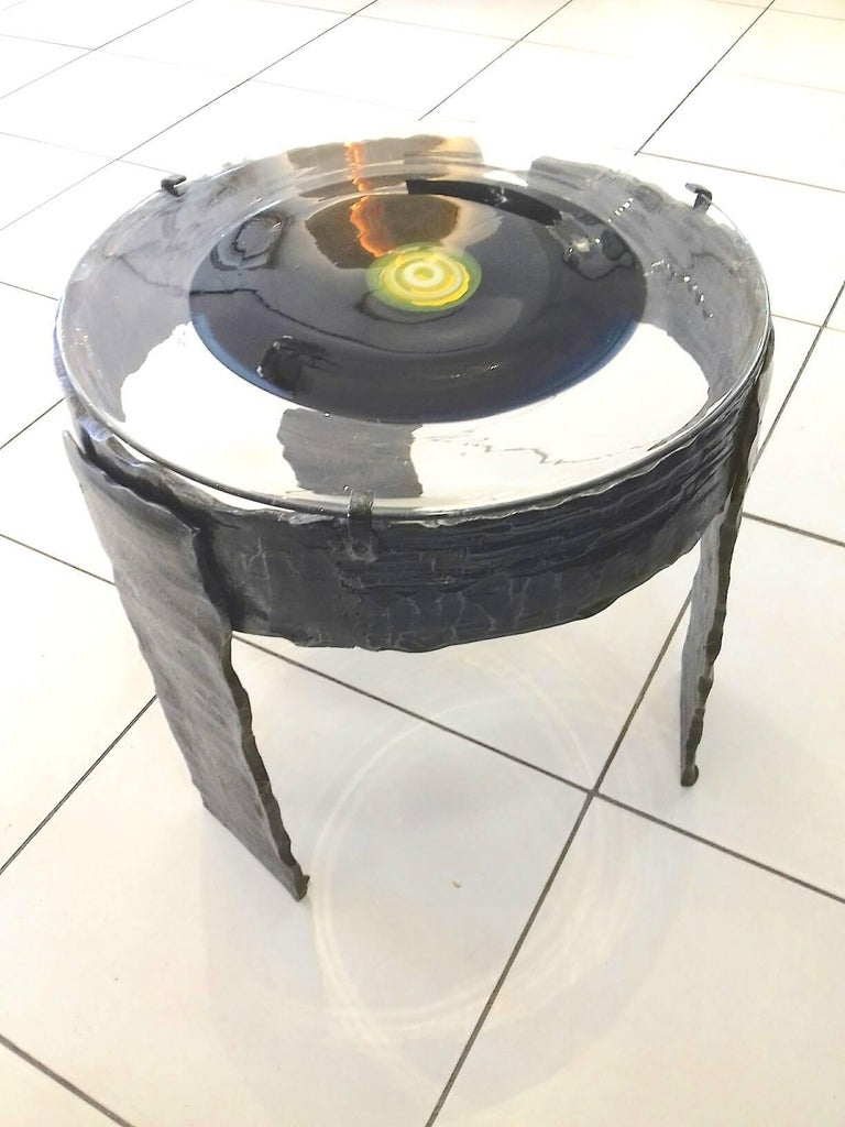 By La Murrina, Metal and Murano Glass Side Table For Sale 2