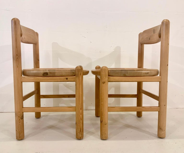 By Rainer Daumiller Danish Modern Solid Pine Wood Dining Chairs, 1960s, Set of 6 For Sale 5