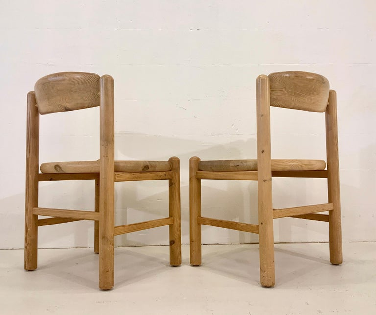 By Rainer Daumiller Danish Modern Solid Pine Wood Dining Chairs, 1960s, Set of 6 For Sale 6