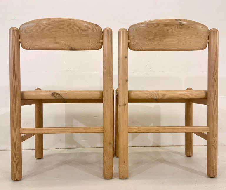 By Rainer Daumiller Danish Modern Solid Pine Wood Dining Chairs, 1960s, Set of 6 For Sale 7