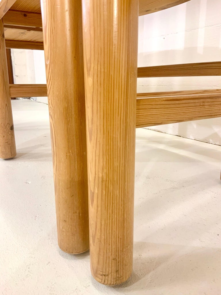 By Rainer Daumiller Danish Modern Solid Pine Wood Dining Chairs, 1960s, Set of 6 For Sale 14