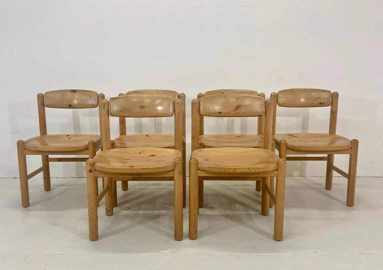 20th Century By Rainer Daumiller Danish Modern Solid Pine Wood Dining Chairs, 1960s, Set of 6 For Sale