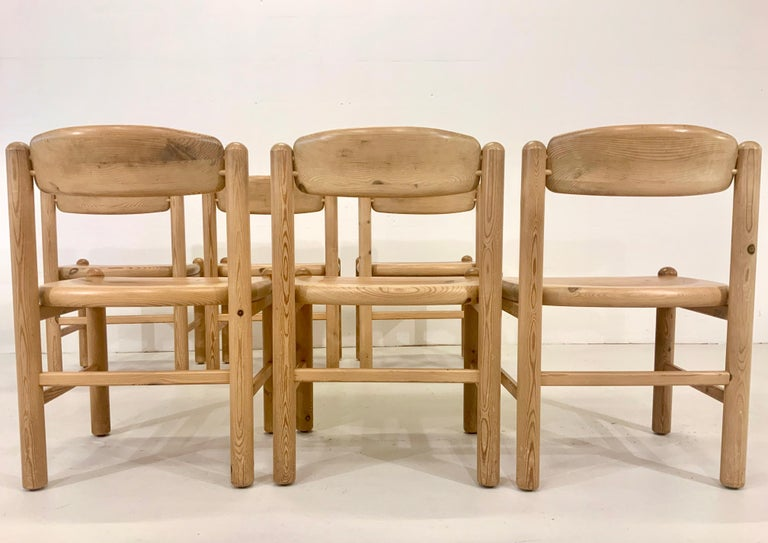 By Rainer Daumiller Danish Modern Solid Pine Wood Dining Chairs, 1960s, Set of 6 For Sale 1