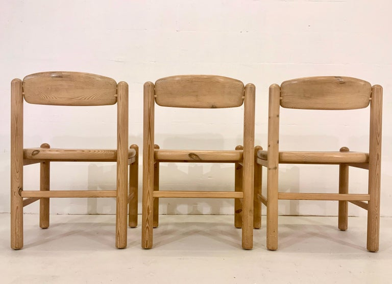 By Rainer Daumiller Danish Modern Solid Pine Wood Dining Chairs, 1960s, Set of 6 For Sale 2