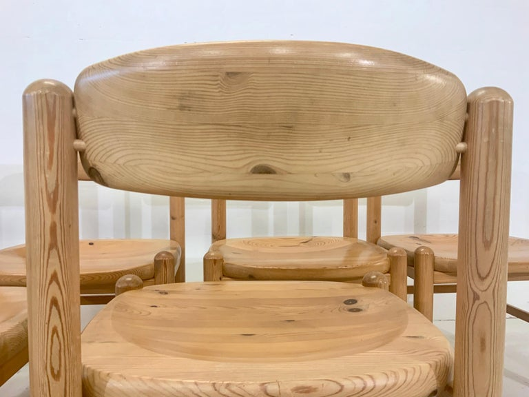 By Rainer Daumiller Danish Modern Solid Pine Wood Dining Chairs, 1960s, Set of 6 For Sale 3