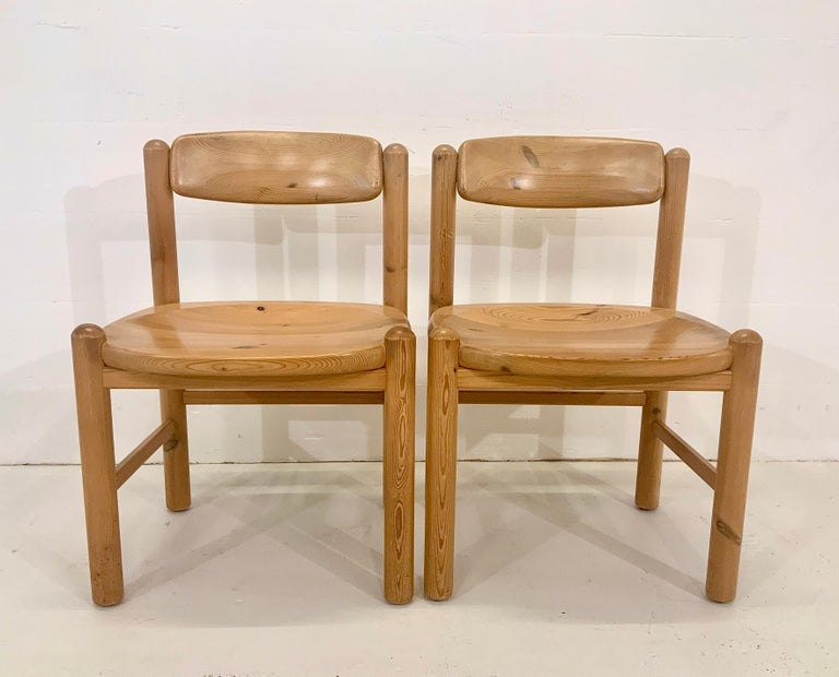 By Rainer Daumiller Danish Modern Solid Pine Wood Dining Chairs, 1960s, Set of 6 For Sale 4