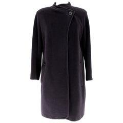Byblos Blue Wool Angora Classic Coat 1980s