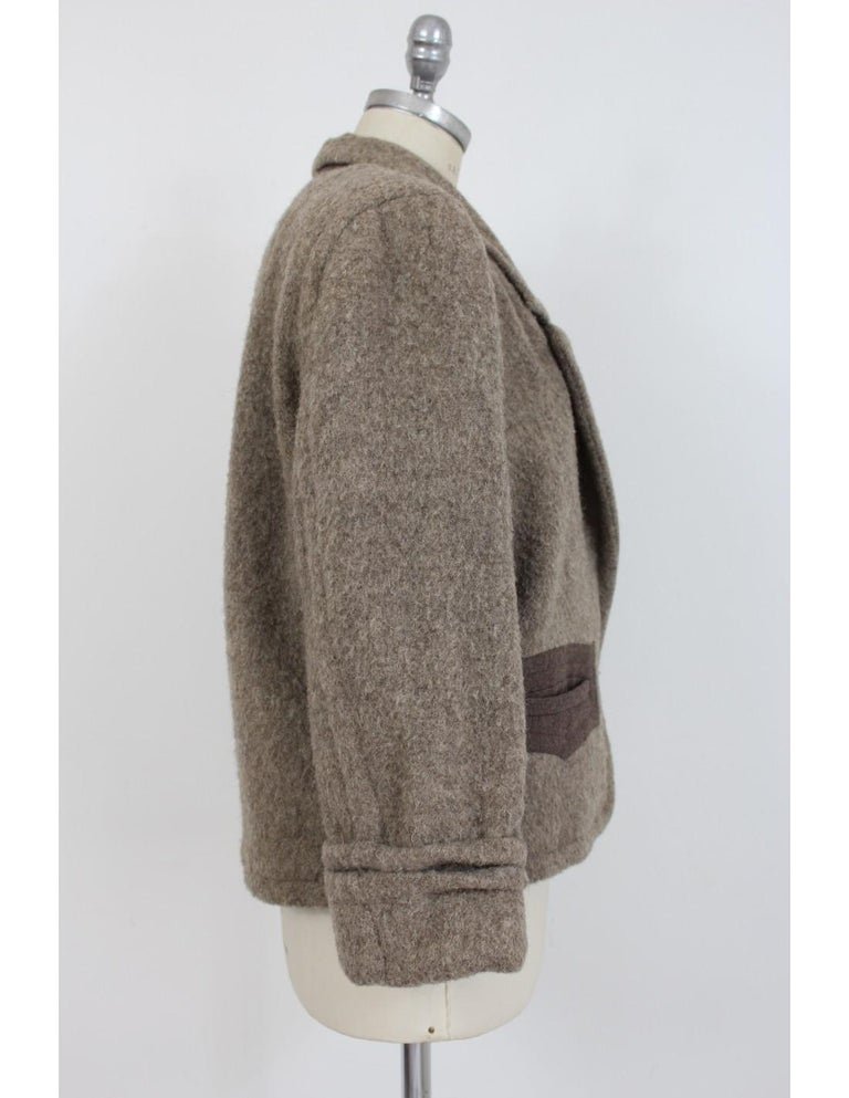 Byblos Brown Beige Wool Short Casual Coat In Excellent Condition For Sale In Brindisi, Bt