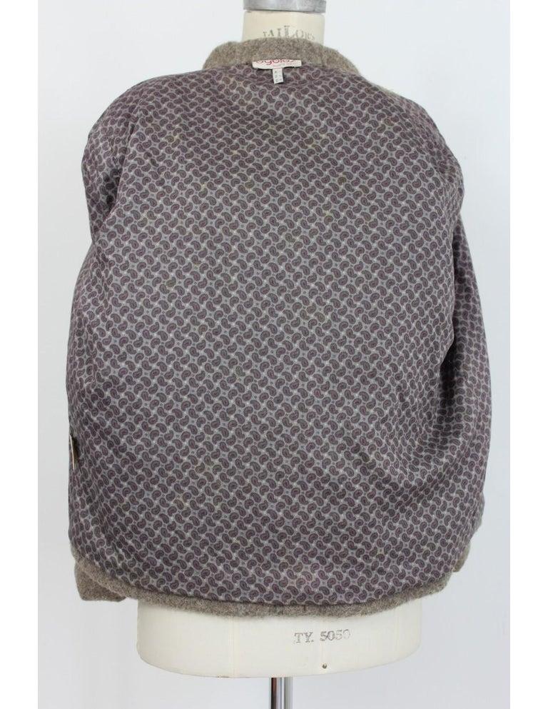 Byblos Brown Beige Wool Short Casual Coat For Sale 3