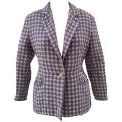 Byblos light purple and white wool jacket