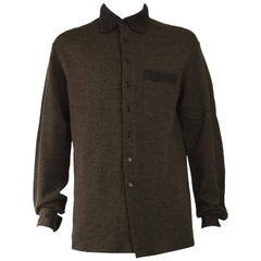 Byblos Mens Vintage Knit Fashion Shirt Jacket