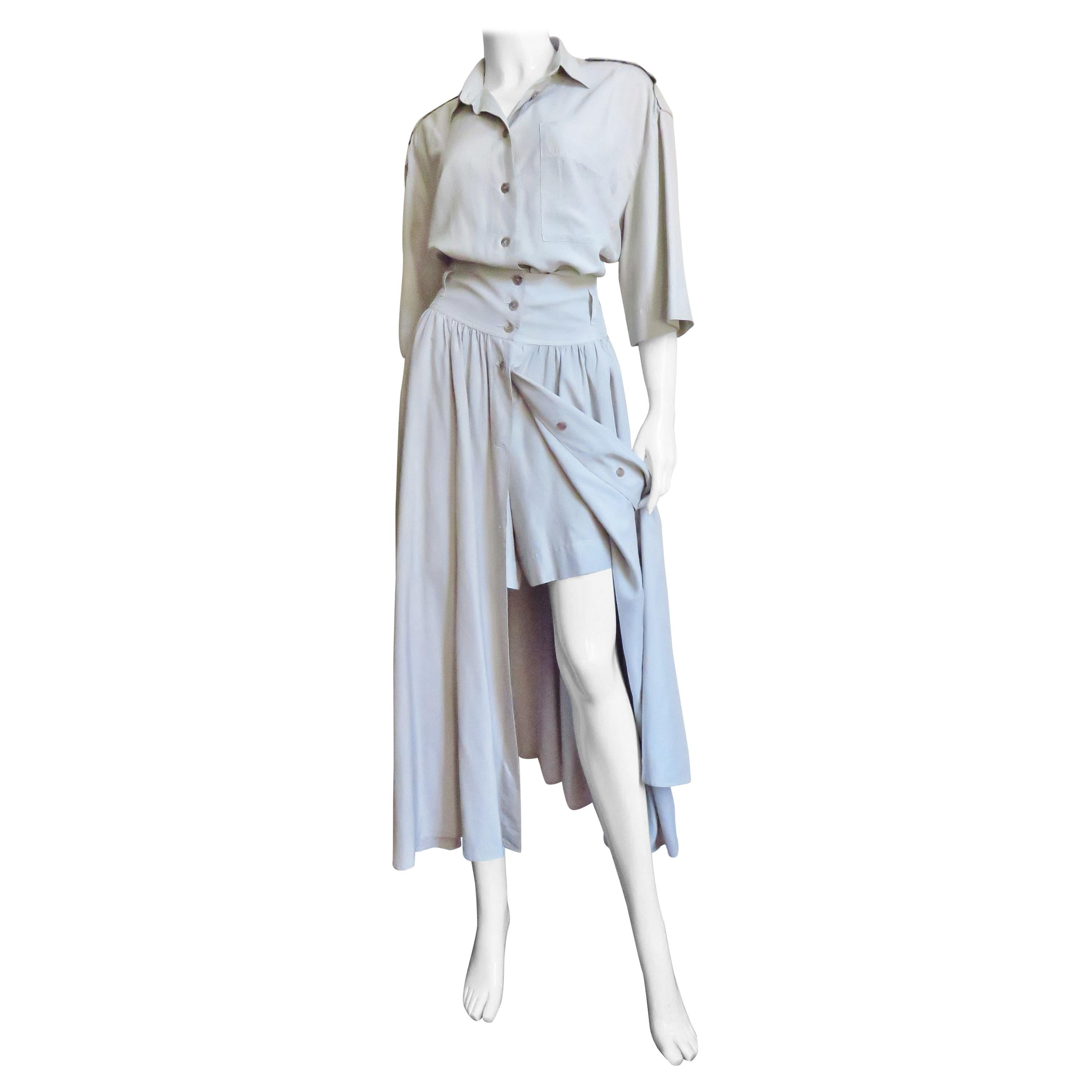 Byblos Silk Romper and Overskirt 1980s