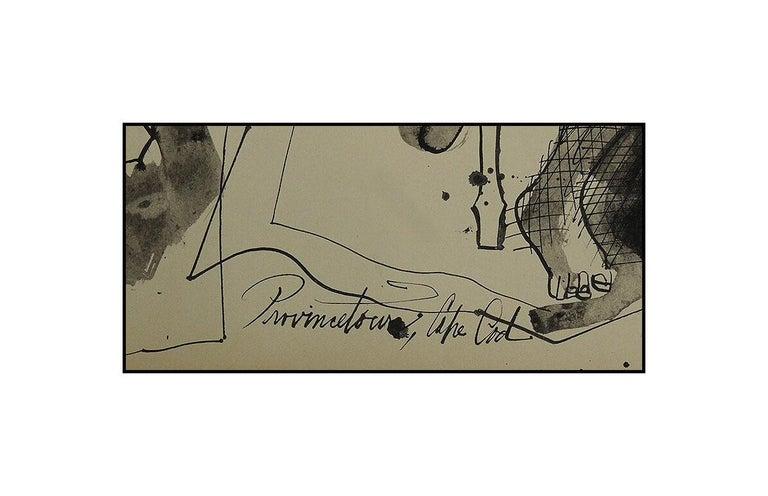 Byron Browne Original Gouache Painting Signed Nude Portrait Antique Artwork oil For Sale 3