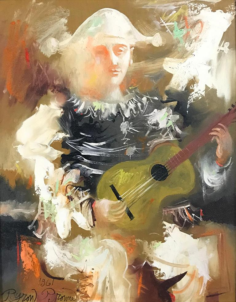 Byron Browne Portrait Painting - Clown