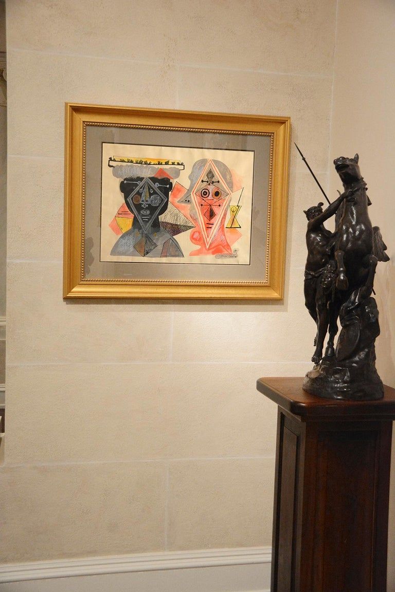 Byron Browne was an American abstract artist and influential advocate for the avant-garde movements of the 1930s. During his lifetime, his work was shown in major museums and galleries including the Museum of Modern Art, NY and the Corcoran Gallery,