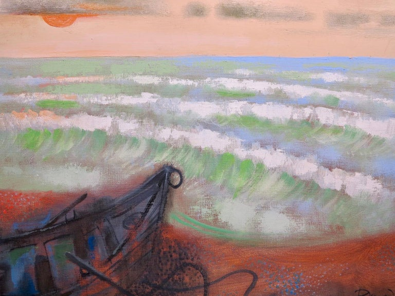 Provincetown Beach (abstract seascape painting) - Abstract Painting by Byron Browne